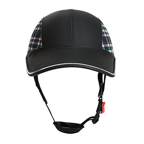 Perfeclan Sport Kappe Mütze Cap Fahrradhelm Schutzhelm Fahrrad Sturzhelm Reithelm Sonnenschutz Helm - Schwarz mit Muster
