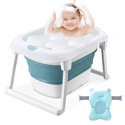 3-in-1 Baby Bath Tub Portable Toddler Collapsible Bathtub Infant Shower Basin Anti Slip Skid Proof