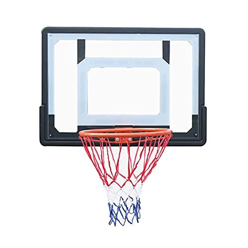 Aro de Baloncesto Aro de Baloncesto portátil de Pared, con Tablero de PC y Kit de aro de Metal, para niños Equipo de Entrenamiento de Baloncesto para Adultos Oficina en casa (Color: Style1)