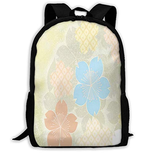 TTmom Zaini/Zaino Casual,Borse a Zainetto, Backpack Japanese Kimonos Patterns Zipper School Bookbag Daypack Travel Rucksack Gym Bag For Man Women
