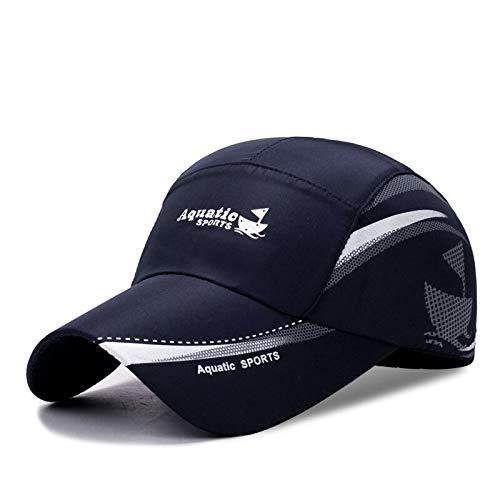 WAZHX NuevaGorra De Béisbol Transpirable De Secado Rápido para Hombres Y Mujeres, Gorra para El Sol, Gorra DeCamionero DeHueso,56 Cm A 60 Cm, Azul Marino