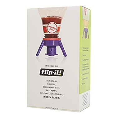 Flip It FLSK6 Deluxe Bottle Emptying Kit with 6 Adapters and Storage Bag, 6-Pack