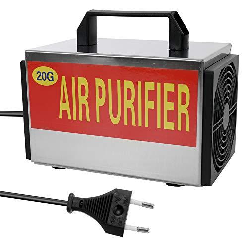 Maquina Ozono, 20 g/h Generador de ozono, Purificador de Aire Ozonizador con Interruptor de Tiempo Purificador para el removedor de formaldehído del Coche casero