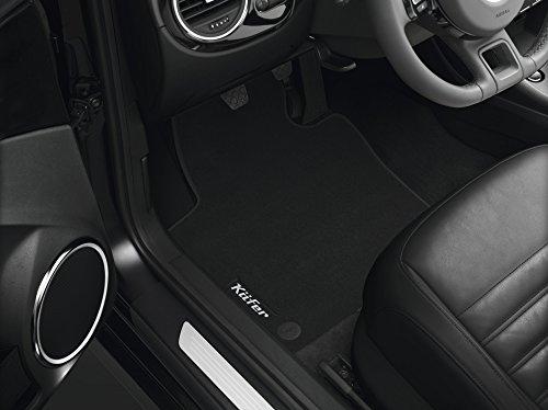 Volkswagen Original Premium Velours Fußmatten mit Schriftzug VW Beetle (5C) 4-teilig schwarz (C - Schriftzug Käfer)