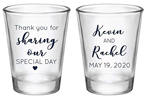 Wedding Shot Glasses Rehearsal Favors Custom Monogram Wedding Shot Glasses Shot Glasses 1531 Shot Glasses Anniversary Party Favors