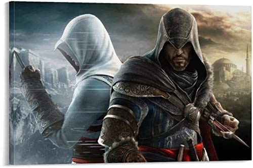 Posters Office Living Decoration Art Assassin's Creed Game Revelations Ezio Auditore Da Firenze Altaïr IBN-La'Ahad Character Abstract Art Painting 12x18inch(30x45cm)