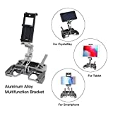 RCstyle Foldable Aluminum Tablet Stand Cell Phone Holder with Lanyard Drone Holder Accessories for DJI Mavic 2/Spark/Mavic Air/Pro/Mini Crystal Sky Drone Remote Controller Adjustable Bracket
