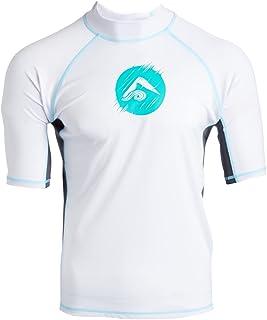 Kanu Surf Men's Echo UPF 50+ Short Sleeve Sun Protective Rashguard Swim Shirt