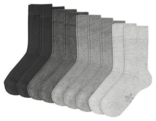 S.Oliver Socks S20031 - Calcetines Para Niños, Multicolor (Grey 49), Talla 23-26 (Talla Del Fabricante: 23/26), paquete de 9