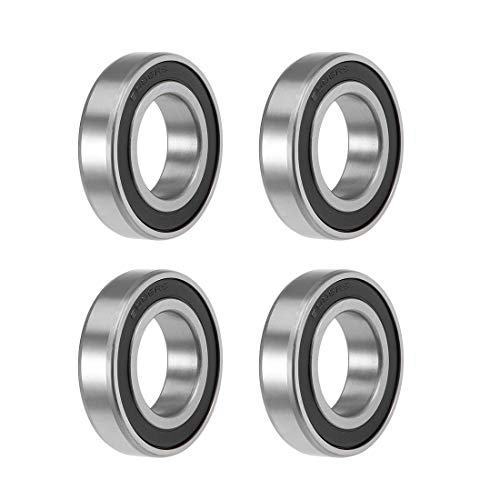 uxcell 6006-2RS Deep Groove Ball Bearings Z2 30mm X 55mm X 13mm Double Shielded Carbon Steel 4pcs