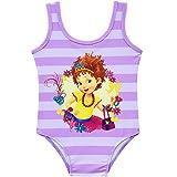 MSSmile Fancy Nancy Swimsuit for Girls One Piece Swimsuit UPF 50 (120cm/6-7Y, Purple)