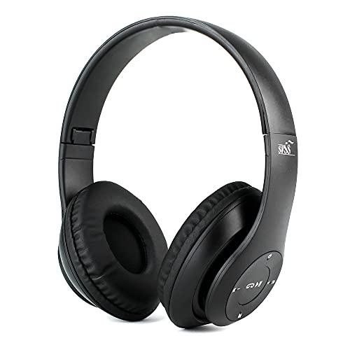 Fone De Ouvido Bluetooth Sem Fio Dobrável Headphone Com Microfone (Preto)