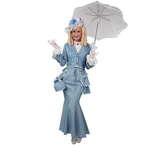 Unbekannt Damen Kostüm Biedermeier Else Deluxe inkl. Hut hellblau Karneval (44/46)