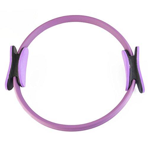 WINOMO Fitness cerchi Pilates Yoga anello cerchio magico Fitness peso perdere cerchio (viola)