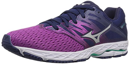 Mizuno Women's Wave Shadow 2 Running Shoe, Purple Wine/Patriot Blue, 11 B US