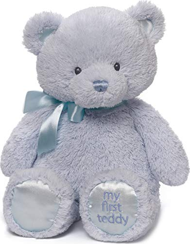 Product Image of the Baby GUND My 1st Teddy Bear Stuffed Animal Plush, Baby Boy Blue 15'