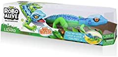 ROBO ALIVE LIZARD: Robotic technology allows it to outrun even the fastest predators! Can you tame him? SUPER-FAST MOVEMENT: It also has ultra-cool head-tilt sensor meaning it stops and searches for prey when you tilt its neck! LIFELIKE DESIGN: The L...