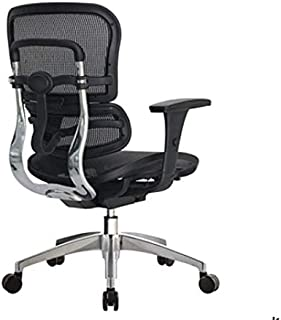 WorkPro 12000 Mesh Managerial Mid-Back Chair, Black/Chrome