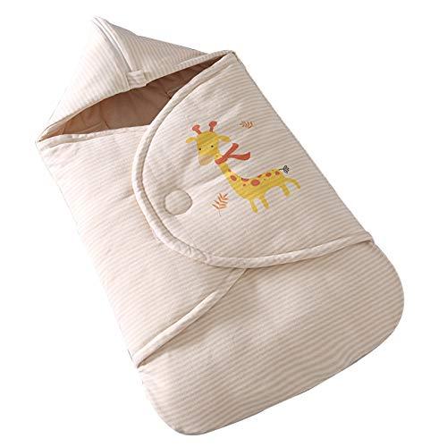 LUO Sacos de Dormir Edredón recién Nacido en otoño e Invierno, Espesado Anti Tiro del edredón Bolsa de Dormir Manta Anti-sobresalto for los bebés y Las niñas (Color : Thin Strips, Size : 0-4 Months)