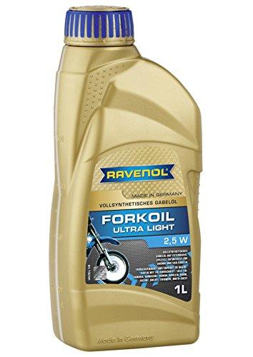 RAVENOL J1V1200-001 Ultra Light 2.5W Fork Shock Suspension Oil - Fully Synthetic (1 Liter)