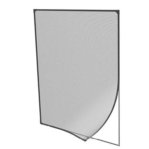 pro insect Insektenschutz Magnetrahmen für Fenster 100x120cm, anthrazit
