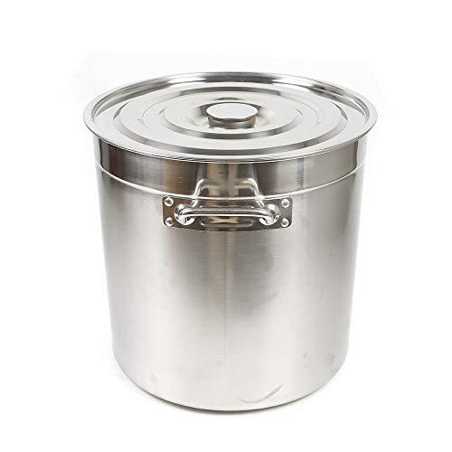 Olla de acero inoxidable Olla con tapa termómetro grifo para sopa de acero inoxidable olla grande olla de sopa cacerola grande restauración olla de verduras de 35 litros Apta para todo tipo de Cocinas
