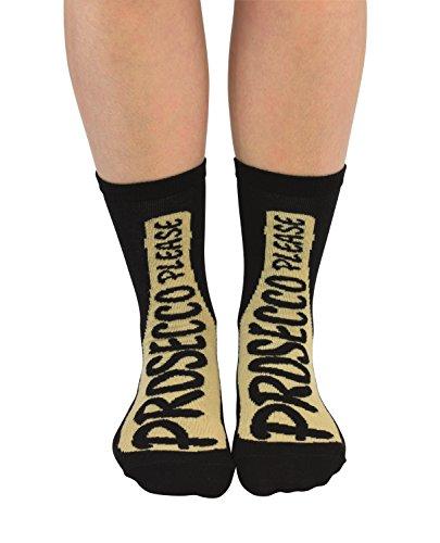 Cockney Spaniel leuke sokken voor vrouwen Prosecco Gelieve UK 4-8 EUR 37-42 US 6.5-10.5