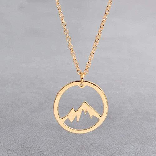 BACKZY MXJP Necklace Necklace Modern Popular Exquisite Necklace Mountain Range Modern Popular Exquisite Necklace Mountain Charm Pendant Mountain Ra