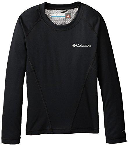 Columbia Midweight Crew 2 Camiseta térmica de Manga Larga, Unisex niños, Negro (Black B), L