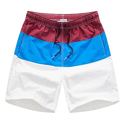 Binle Shorts de Playa de Secado rápido para Hombres con Forro de Malla, Shorts de Playa con cordón para Hombres, Material de Fibra de poliéster, Muy refrescante y cómodo