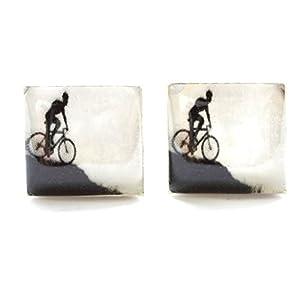 Handgemachte Mountainbike Manschettenknöpfe, Manschettenknöpfe