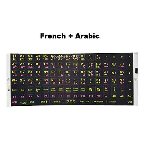 Hebreeuws Arabisch Frans Toetsenbord Typen Praktijk Leren Taal Film Sticker Matte Laptop Alfabet Knop Sticker