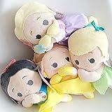 SDSG 4Pcs Frozen Elsa Y Anna Peluche 20Cm,Princesa Peluche Juguetes Niños Regalo De Cumpleaños