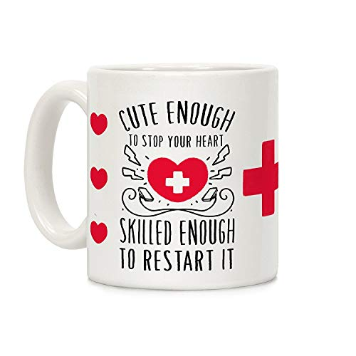 11oz Tasse Kaffeetasse Familie Geschenk-Idee Mug Cup Süß genug, um dein Herz zu stoppen. Genug genug, um es neu zu starten