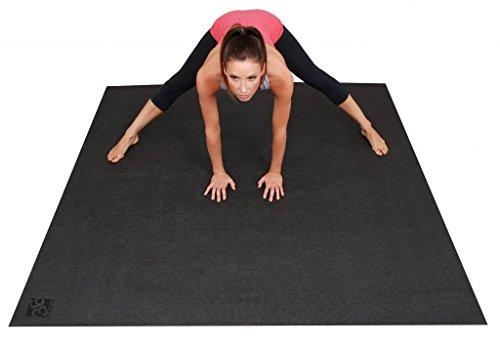 Square36 Large Yoga Mat 6 Feet x 6 Feet