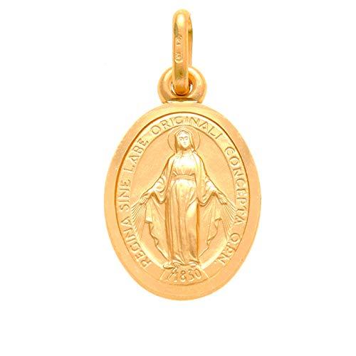 Wundertätige Medaille-Anhänger, 9kt Gold-Anhänger, 12mm–für die Heilige Kommunion und Taufe, Geschenk