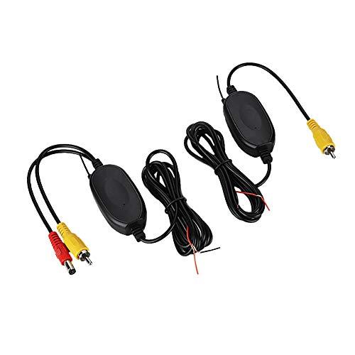 Kit Trasmettitore E Ricevitore Video Wireless Per Auto Telecamera Retromarcia, Wireless Rear View Camera RCA Video Transmitter & Receiver Kit for Car Rearview Monitor FM Transmitter & Receiver