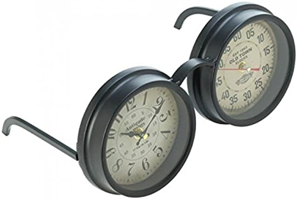 Zings Thingz 57073496 Vintage Spectacles Clock Black