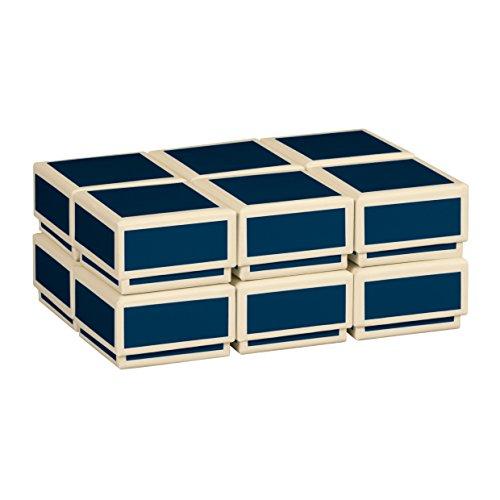 Semikolon (352019) 12 kleine Schachteln im Set marine (blau) - Ideal als Geschenkboxen, Geschenkschachteln - Boxen im Format 4,5 x 4,5 x 2,8