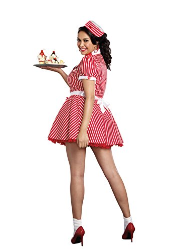 Dreamgirl Women's Plus-Size Diner Doll Waitress Costume