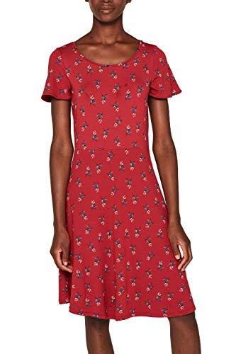 ESPRIT Damen 079Ee1E004 Kleid, Rot (Dark Red 610), Small (Herstellergröße: S)