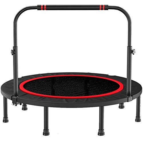 LK-HOME 40'' Exercise Trampoline with Height Adjustable Handle,Small Gym Trampoline for Indoor Fitness, Foldable Bungee Rebounder Trainer Workout for Adults