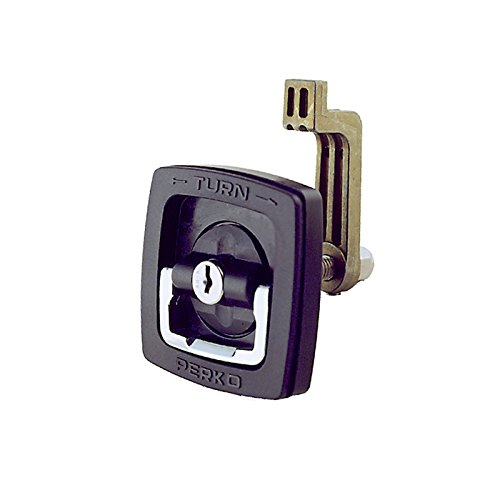 Perko 1031DP1BLK Flush Lock with Offset Cam Bar and Flexible Polymer Strike