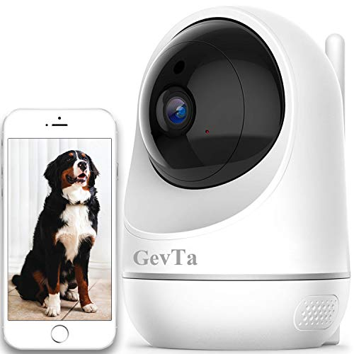 GevTa Pet Camera,FHD Dog Camera WiFi Pet Monitor Indoor Cat Camera Night Vision 2 Way Audio and Motion Detection
