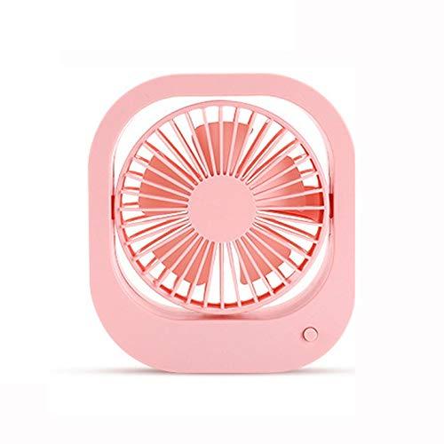 WZHZJ Mini USB del Color del Caramelo pequeño Ventilador del Estudiante compartida oscilación Ajustable eléctrico del Ventilador eléctrico del Ventilador silencioso
