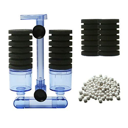 boxtech Aquarium Filter, Zubehör für Aquarium Filter, leiser Biorb Filter für kleine und große Aquarien (Double Sponge Black)