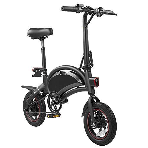 KNFBOK Bicicleta eléctrica plegable ultraligera y portátil, mini batería para mujer, frenos...