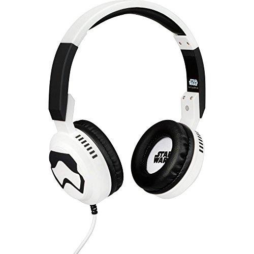 Tribe Star Wars - Auriculares on-ear con micrófono I Auriculares Cascos para Iphone, Android, Movil, PS4, XBOX, PC, Computador - diseño Stormtrooper