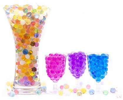 Risai Bolas de Gel de Agua, Perla Bolitas de Agua No Tóxicas Crecen en Agua, Juguete Sensorial Orbeez, Water Beads para Jarrones Decoración Plantas Flores, Multi Colour 10g