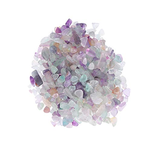 Garneck 500g kristall Steine kristall Quarz stücke multifunktionale schöne natürliche entmagnetisierung kristall schutt Rock für blumentopf Aquarium jewerly Display (Bunte fluorit)